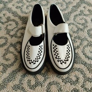 Tuk Gothic Skull Loafer Flats with Checkers